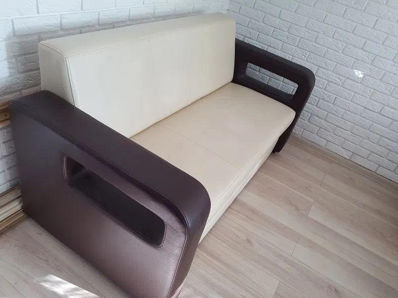 atrakcyjna sofa brązowo beżowa