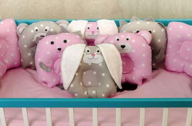 Детская постель комплект в кроватку Лесные звери + подушки-игрушка