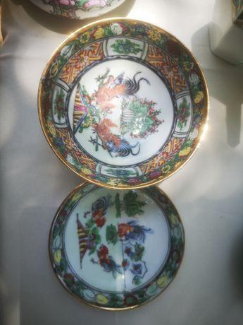 Louça chinesa taça com prato