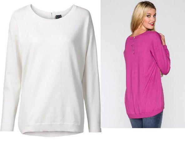 RAINBOW sweter z zamkiem z tyłu 44/46 3 XL