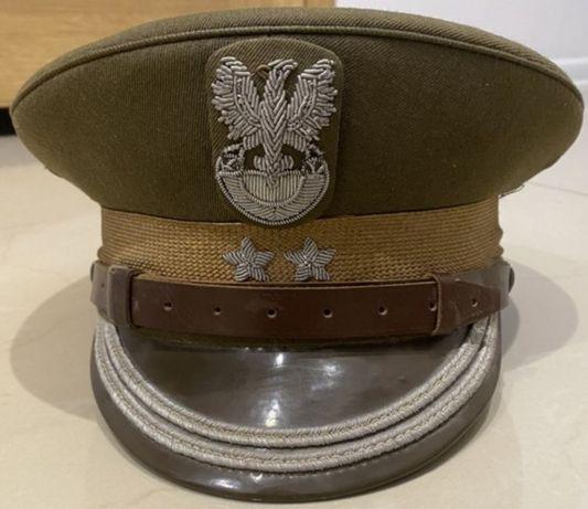 Czapka garnizonowa LWP PRL oficer oficerska pułkownik p.pułk