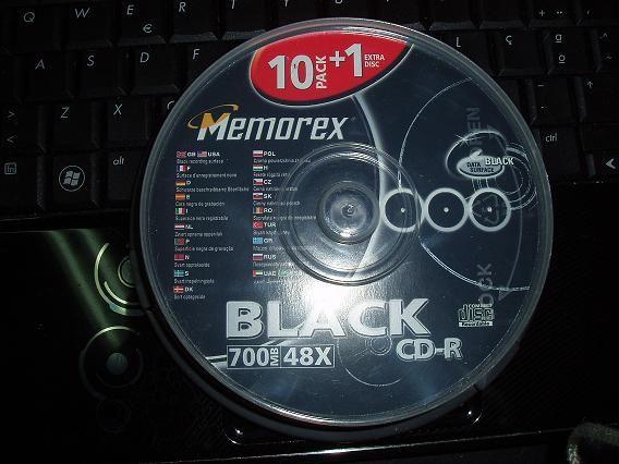 CDs de edição limitada Memorex, PRETOS, caixa com 11