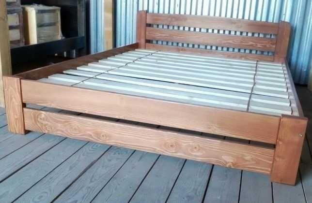 кровать  140*200см деревянная полуторная эко