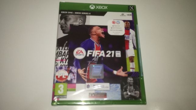 xbox one FIFA 21 PL po polsku NOWA! okładka polska Folia!