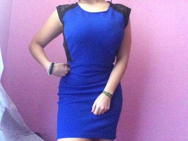 Vestido azul cerimonia, casual e formal