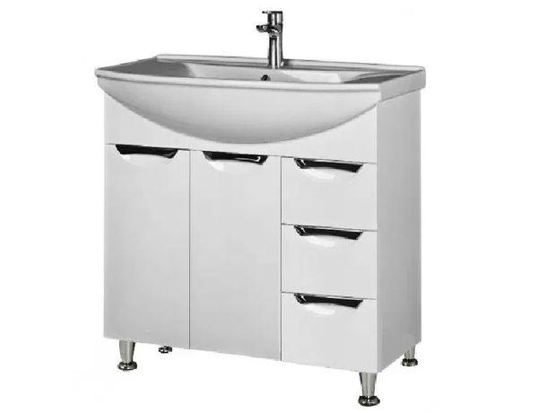 Тумба Грация с умывальником раковиной 75, 85, 95 см в ванную комнату
