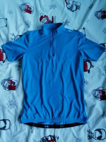 Niebieska koszulka rowerowa B'Twin