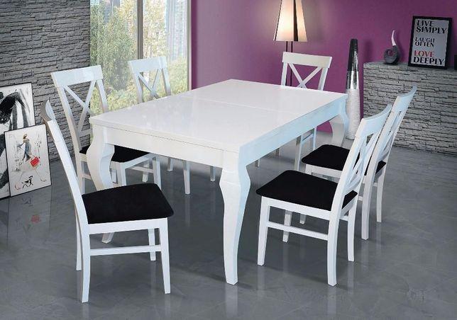 Stół gwarancja nowoczesny biały wysoki połysk glamour