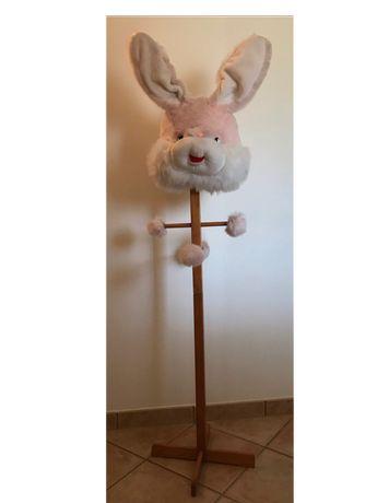 Cabide cabeça de coelho p/ quarto de criança