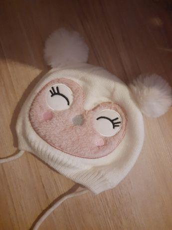 Ciepła czapeczka na zimę dla dziewczynki Smyk cool club 40 42 jak nowa