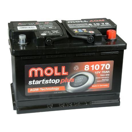 Akumulator Moll start | stop plus AGM 70Ah 760A