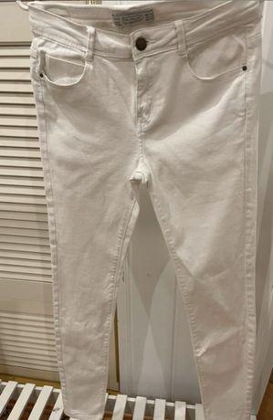 Spodnie białe rurki Zara rozmiar S