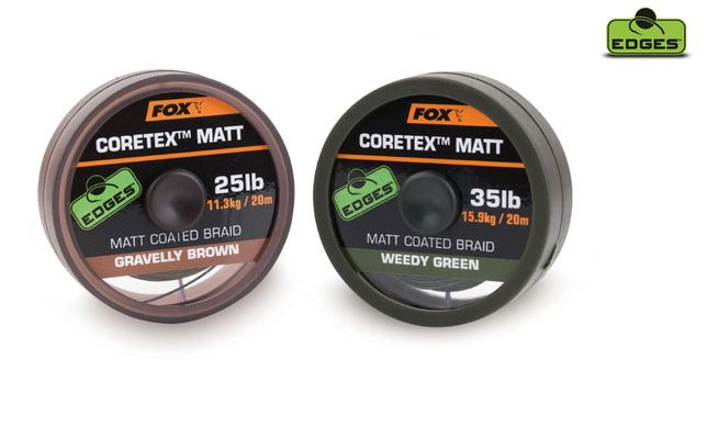 FOX EDGES Coretex Matt - Weedy Green 25lb - 20m