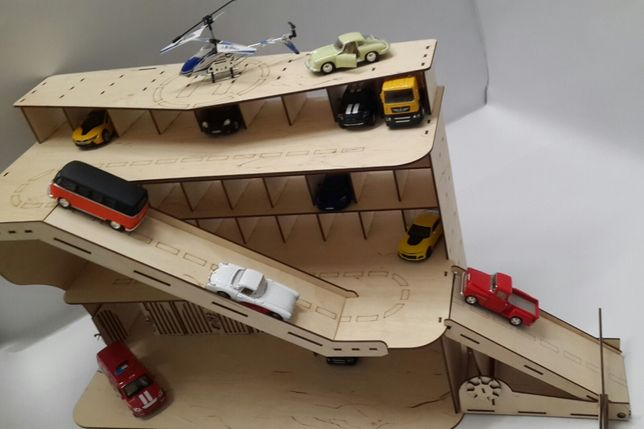 Паркинг, гараж,парковка из фанеры для машинок