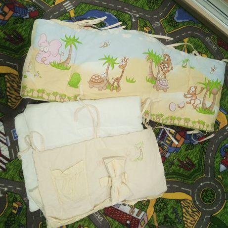 Бортики в кроватку. Защита на детскую кроватку. Тигрес. Карман. Одеяло