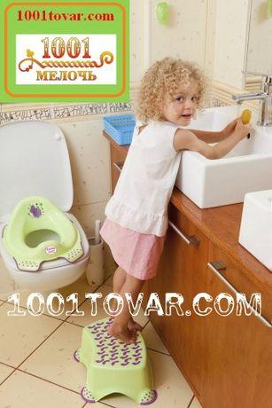 Антискользящая детская пластиковая накладка на унитаз и ступенька - по