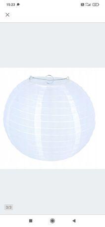Lampa papierowa do pokoiku salonu urodziny biały