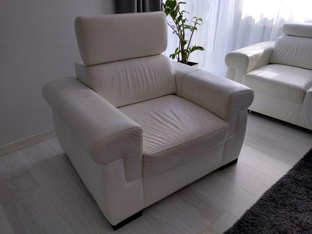 Fotel ze skóry naturalnej