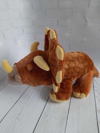 Большой динозавр трицератопс Keel toys мягкая игрушка