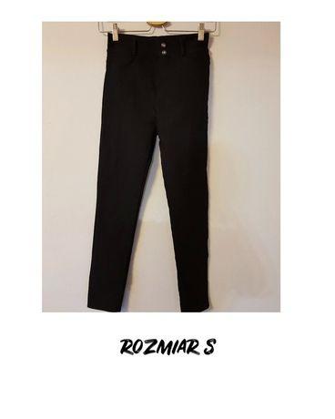 Czarne legginsy jak spodnie jeansowe, rozmiar S