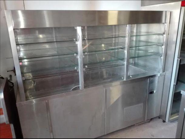 Expositor de sobremesas c/ 4 níveis inox 2000x700x1750 mm