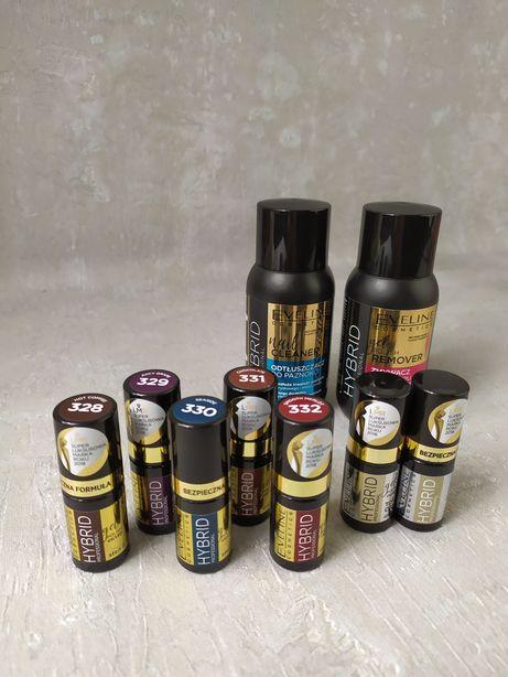 Lakiery hybrydowe Eveline Cosmetics Zmywacz Odtłuszczacz Top Baza