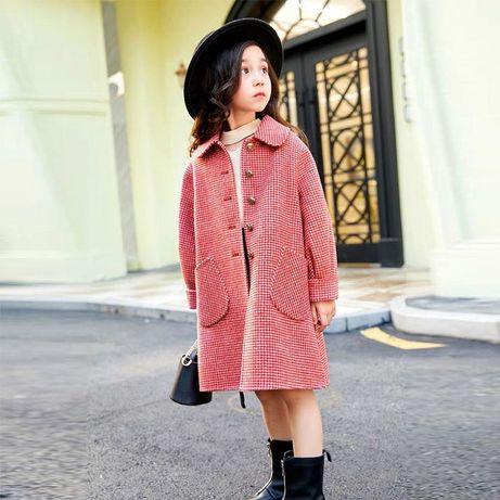 Осеннее пальто на девочку 10-11 лет