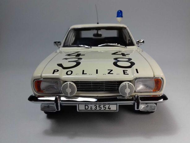 "Minichamps - 1:18 - Ford Capri ""Autobahn Polizei"" (1969) + caixa"