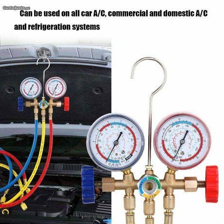Kit manómetros pressão carregar ar condicionado