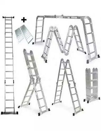Escada desdobrável em alumínio 475cm+plataformas nova.