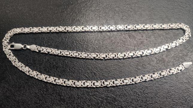 Srebrny włoski łańcuszek. Wzór Dolce& Gabbana
