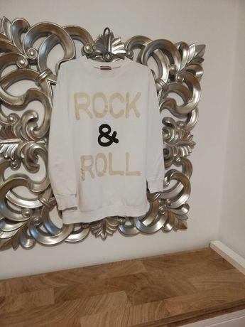 Bluza biała z napisem M/L