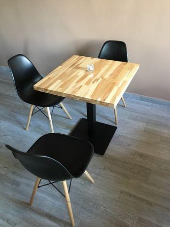 Stoły do restauracji, stoły na jednej nodze bukowy 80x80x4 cm