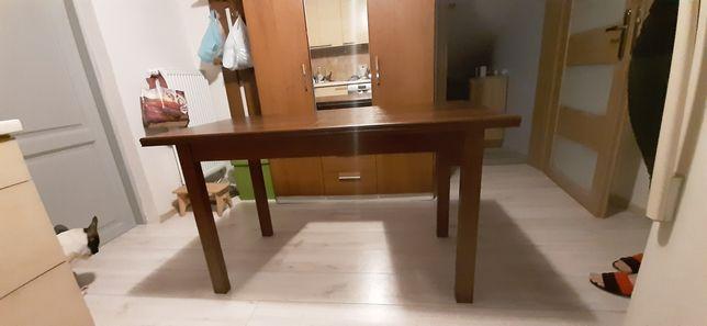 Stół o wym 130 na 70 plus dodatkowa wkładka 70 na 40kolor c.orzech