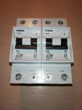 Автоматические выключатели 2-х полюсные SIEMENS C6A и С10А