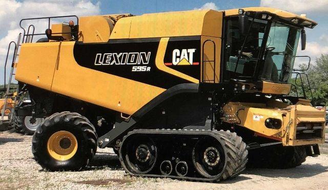 Caterpillar Lexion 595R, є також Cat 580, 590.