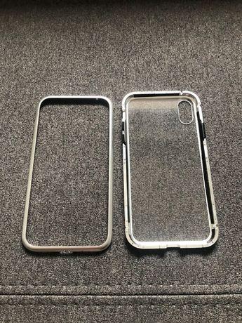 ==Pokrowiec ramka etui Apple Iphone X/Xs aluminium szkło==