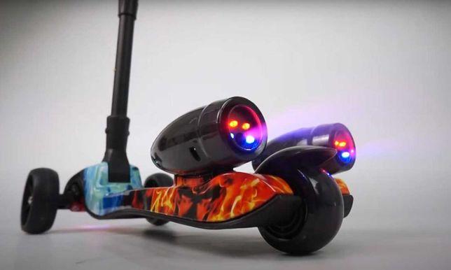 Самокат Best Scooter Maxi музыка дым турбины складной подсветка