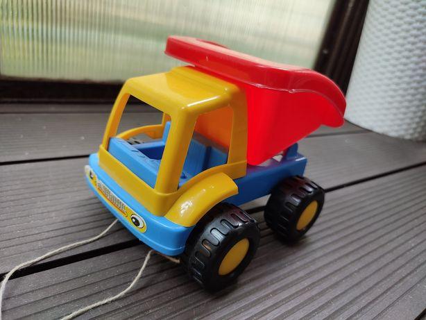 Wywrotka zabawka dla dziecka autko jeździk do ciągnięcia piaskownicy