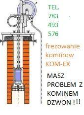Frezowanie kominów od 150zł wkłady kominowe.(kominiarz) GRATIS nasada
