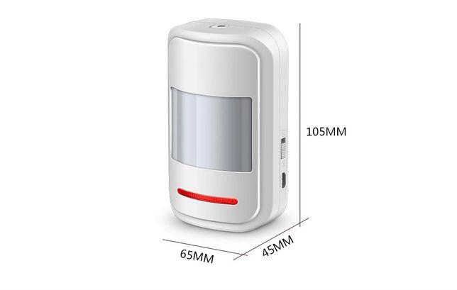 Sensor de movimento PIR sem fio baterias AAA carregamento porta USB
