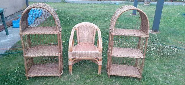 Komplet Szafka fotel wiklina zestaw cena za komplet
