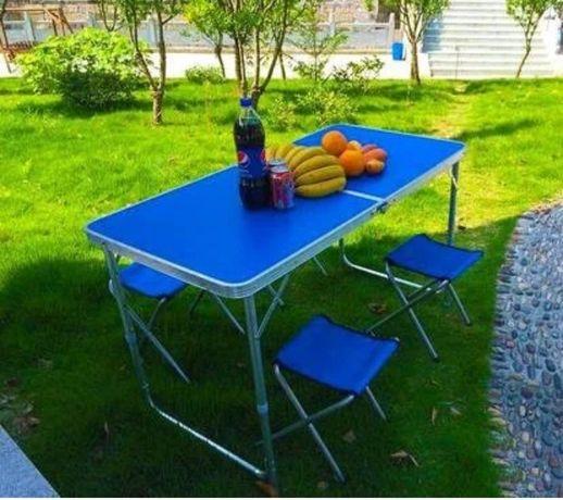 Акция! Стол для пикника усиленный, раскладной стол+4стула, есть зонты