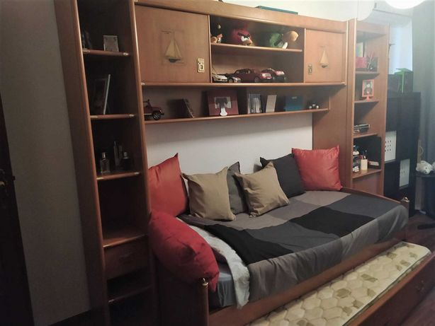 Quarto Estúdio com 2 camas como NOVO - Madeira Maciça (Defender)