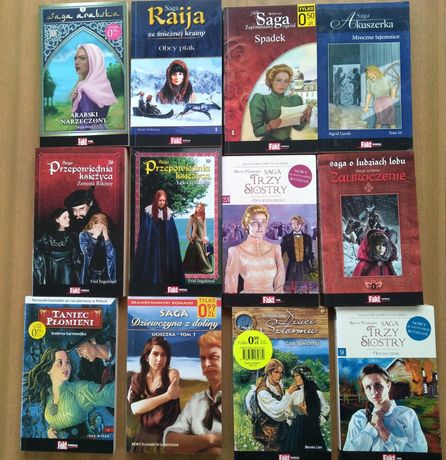 Książki romanse, sagi 34 sztuki