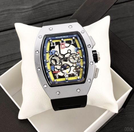 Zegarek Richard Mille Automatic Silver-Black