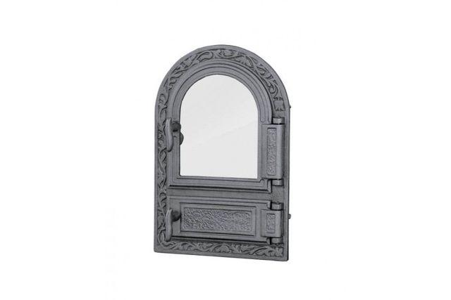 Дверца чугунная для печи со стеклом Halmat