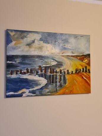 Obraz malowany na płótnie - morze