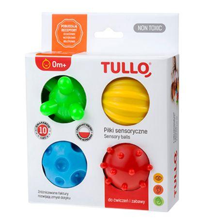 Zabawki TULLO Antystresowe Piłki sensoryczne do ćwiczeń zabawy 0m+