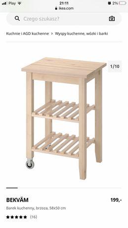 Ikea bekvam barek kuchenny stolik pomocnik drewniany nowy wyspa wózek